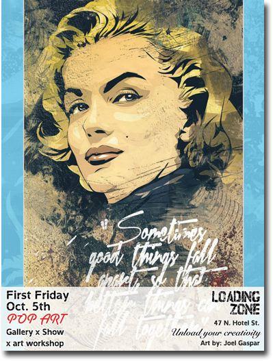 Art Zone Calendar : Loading zone first friday pop art music dance