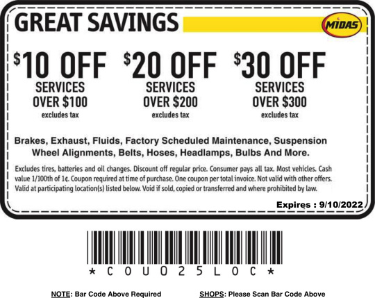 Midas Brake Coupons >> Auto Repair Maintenance Coupons Discount, Offers, Promotions Midas Honolulu Hawaii - First ...