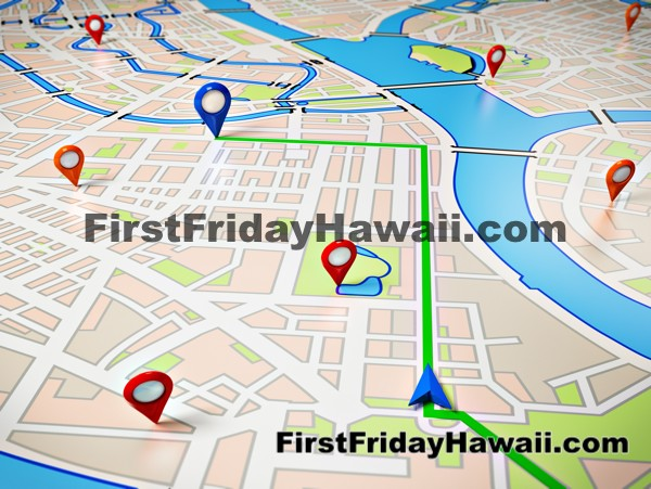 Maps of First Friday Honolulu Art Walk Downtown Chinatown