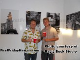 Bayly Buck in his studio during First Friday Hawaii