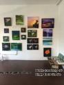 Artist Terri Yogi's art on display at Bayly Buck Studios during First Friday Hawaii