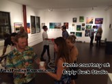 Bayly Buck welcomes guests to his multi use studio during First Friday Hawaii